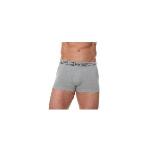 Bezszwowe bokserki męskie Brubeck Comfort Cotton BX10050 szare, bawełna