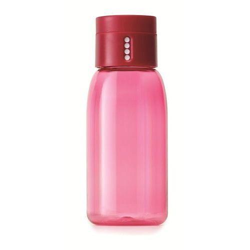 - butelka na wodę dot 400 ml - różowa - różowy marki Joseph joseph