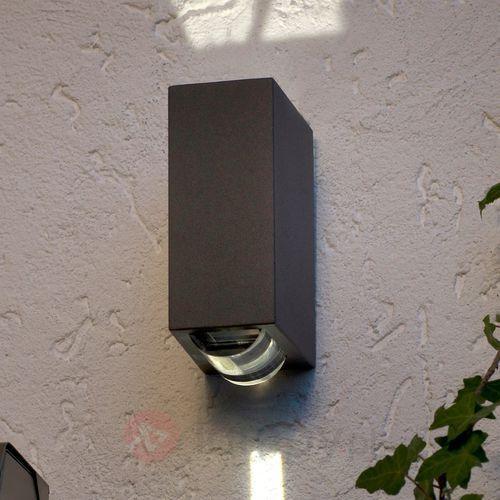 Lampa ścienna zewnętrzna LED ECO-Light 1862 GR, 2x1 W, LED wbudowany na stałe, 36 lm, 4100 K, IP54, (DxSxW) 6.4 x 9.6 x 15.5 cm
