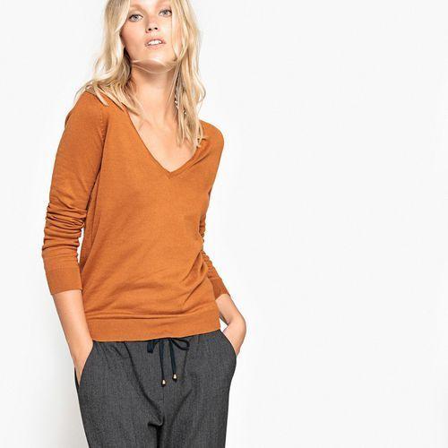 Bawełniany sweter z dekoltem w serek, La redoute collections