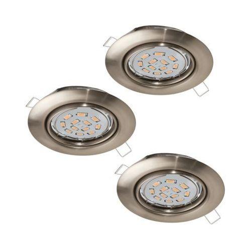 Eglo Plafon peneto 94408 lampa oprawa wpuszczana downlight oczko zestaw 3szt 3x5w gu10-led nikiel mat (9002759944087)