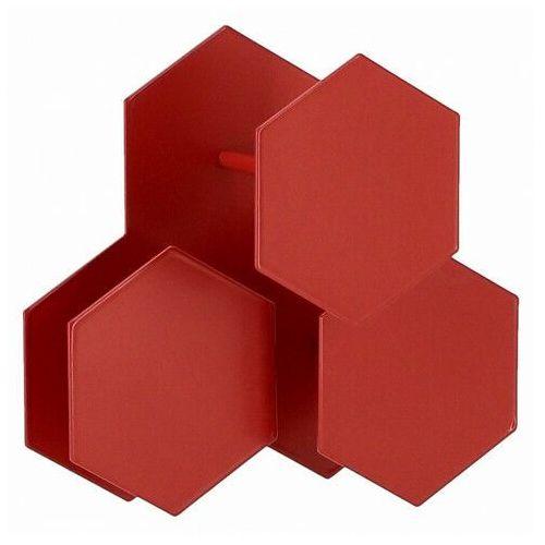 Czerwony wieszak ścienny - Tiato