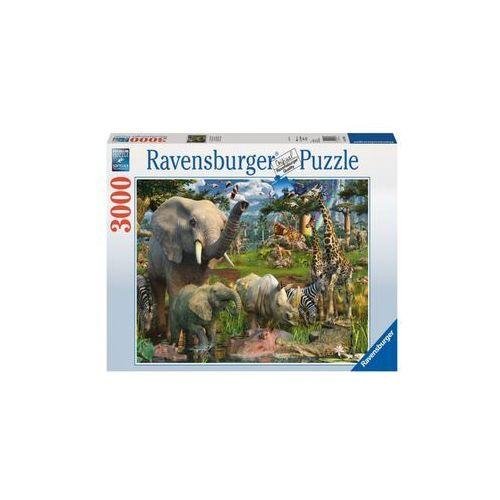 Puzzle afrykańskie zwierzęta 3000 -  marki Ravensburger