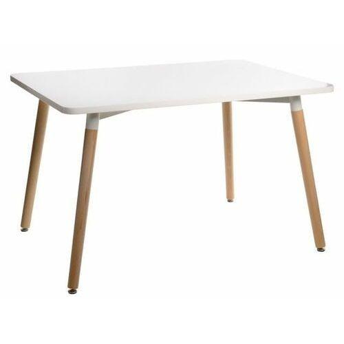 D2.design Stół copine biały/ naturalny 120x80 cm