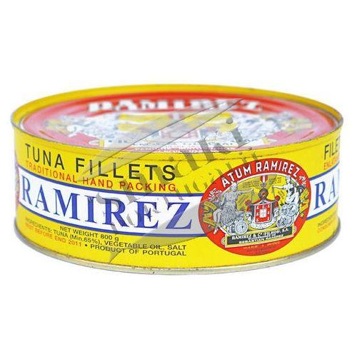Ramirez Portugalskie filety z tuńczyka w oleju roślinnym 800g