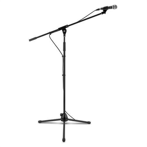 3 x km 02 zestaw mikrofonowy 4-częściowy mikrofon statyw zacisk kabel 5m c marki Auna
