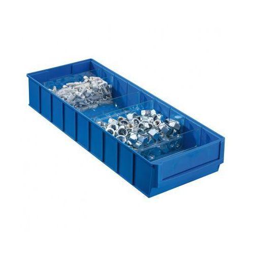 Plastikowy pojemnik do regału shelfpoj., 183 x 500 x 81 mm, niebieski marki Allit