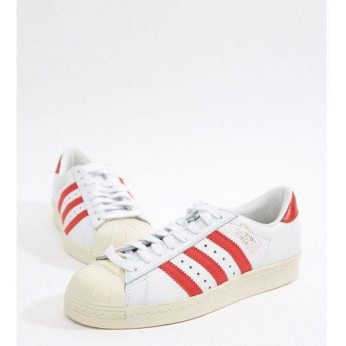 half off 1d630 920a9 originals superstar og trainers in white and red - black marki Adidas