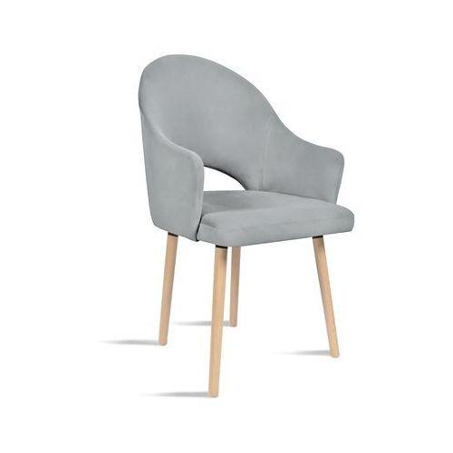 Krzesło BARI jasny szary/ noga buk/ JA81