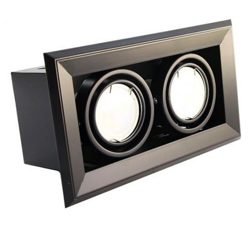 Podtynkowa LAMPA sufitowa BLOCCO ML475 Milagro metalowa OPRAWA LED 14W oczko do wbudowania prostokątne czarne, kolor Czarny