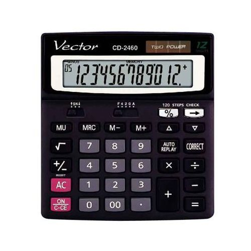 Vector Kalkulator biurowy cd-2460. Najniższe ceny, najlepsze promocje w sklepach, opinie.