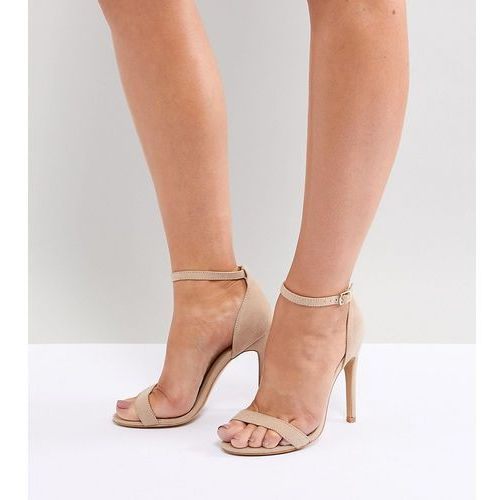 wide fit barely there heeled sandals - beige, Truffle collection