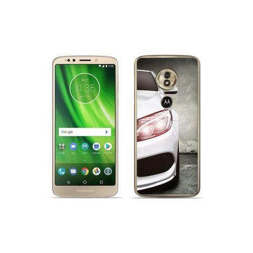 Motorola moto g6 play - etui na telefon foto case - biały samochód marki Etuo foto case