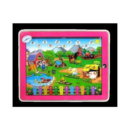 Kg Tablet edukacyjny dla dzieci - farma (niebieski i różowy).