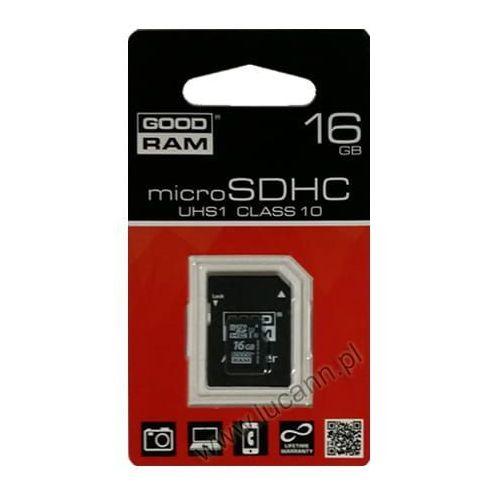 Karta pamięci microSD GOODRAM 16GB CL10 UHS-I, GoodRam16GB