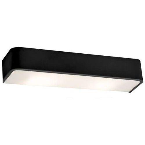 Kinkiet LAMPA ścienna FLAT LED 10W 20301102 Kaspa minimalistyczna OPRAWA metalowa prostokątna czarna, 20301102