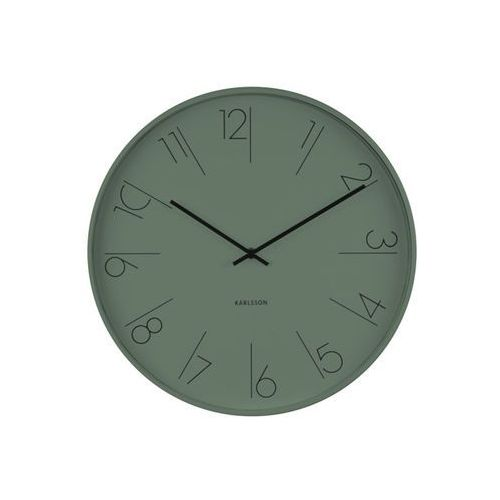 Karlsson:: Zegar ścienny Elegant Numbers ciemnozielony, kolor zielony