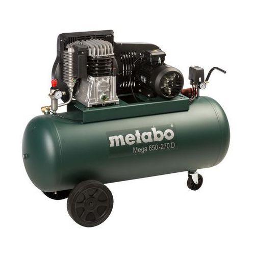 Kompresor sprężarka tłokowa Metabo MEGA 650-270 D + zestaw LPZ 7