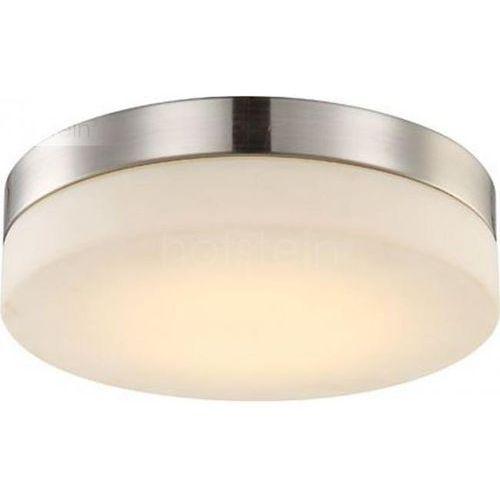 Globo Lampa sufitowa LED Nikiel matowy, 1-punktowy - - Obszar wewnętrzny - UFO - Czas dostawy: od 6-10 dni roboczych, kolor Biały
