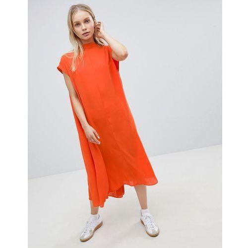 long floaty dress - red marki Weekday