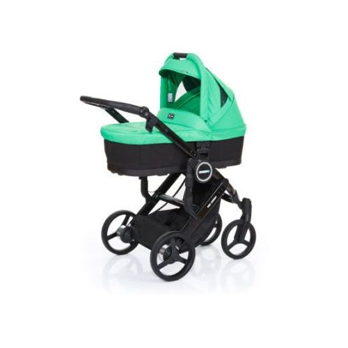 ABC DESIGN Wózek dziecięcy Mamba plus black-grass, stelaż black / siedzisko black (4045875038136)