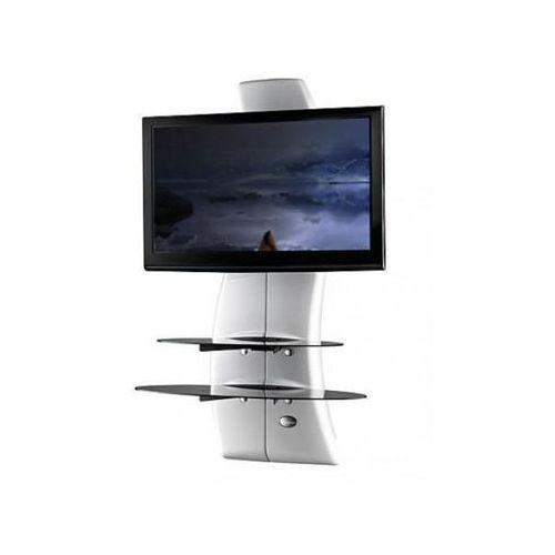 Półka pod tv z maskownicą ghost design 2000 biała marki Meliconi s.p.a.