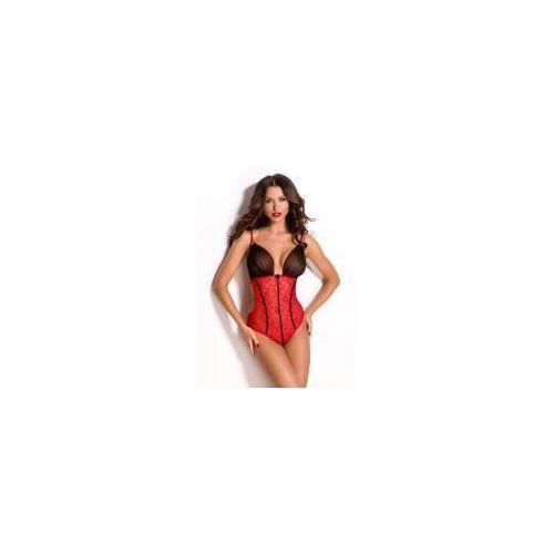 Body Anais Divina czarno-czerwone, kolor czerwony
