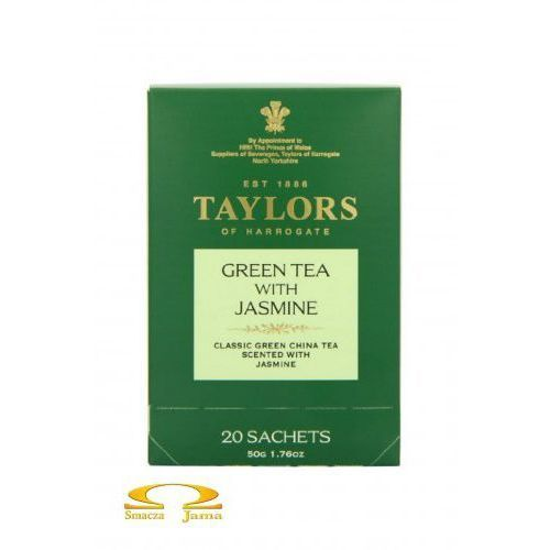 Taylors of harrogate Herbata zielona z jaśminem 20 saszetek