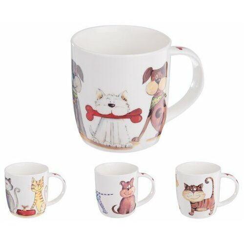 zestaw kubków porcelanowych psy i koty 0,4 l, 4 szt. marki Orion