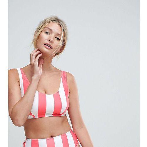Peek & Beau Fuller Bust Stripe Bikini Top DD-G - Multi