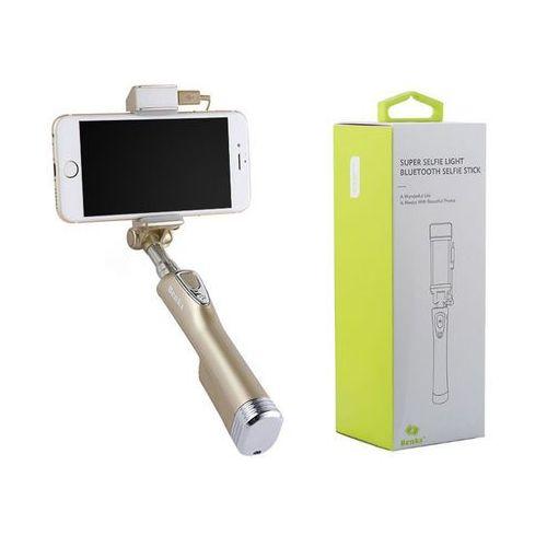 uchwyt selfie stick bluetooth power bank champagne gold marki Benks