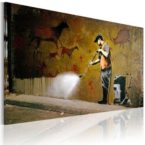 Obraz - bielenie lascaux (banksy) marki Artgeist