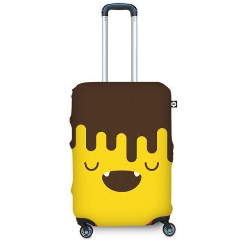 Pokrowiec na walizkę BG Berlin M - choco banana