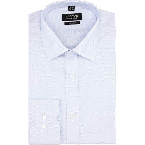 Koszula versone 2749 długi rękaw slim fit niebieski marki Recman