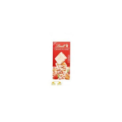 Lindt Czekolada grand plaisir biała z kawałkami migdałów i truskawkami 150g
