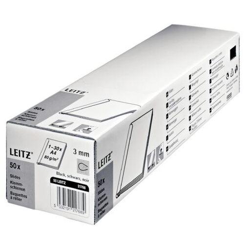 Grzbiet wsuwany Leitz A4/3mm/50szt 21770 przezroczysty - OKAZJE
