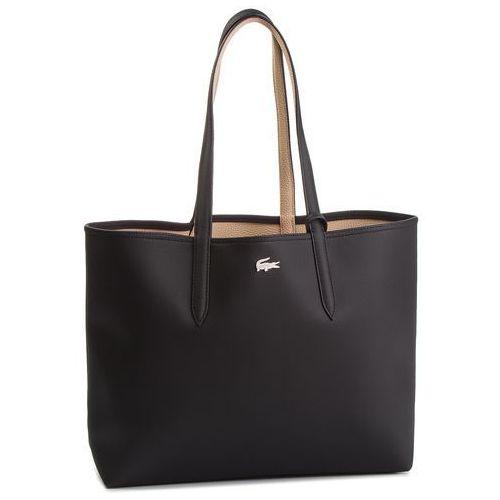Lacoste Torebka - shopping bag nf2142aa black warm sand a91