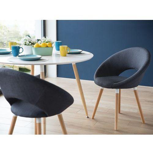 Beliani Krzesło ciemnoniebieskie - do jadalni - kuchenne - do salonu - roslyn