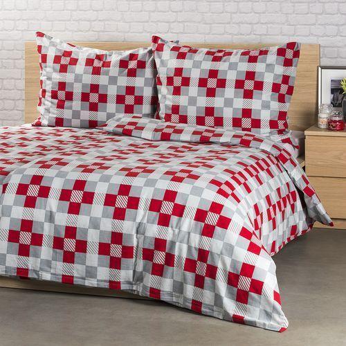 pościel flanelowa checker, 220 x 200 cm, 2x 70 x 90 cm, 220 x 200 cm, 2 szt. 70 x 90 cm marki 4home