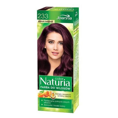Joanna naturia color farba do włosów głęboki burgund nr 233