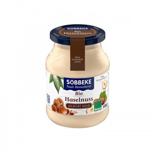 Sobbeke Jogurt z orzechami laskowymi 3,8% bio 500 g (słoik) -  (4008471503972)