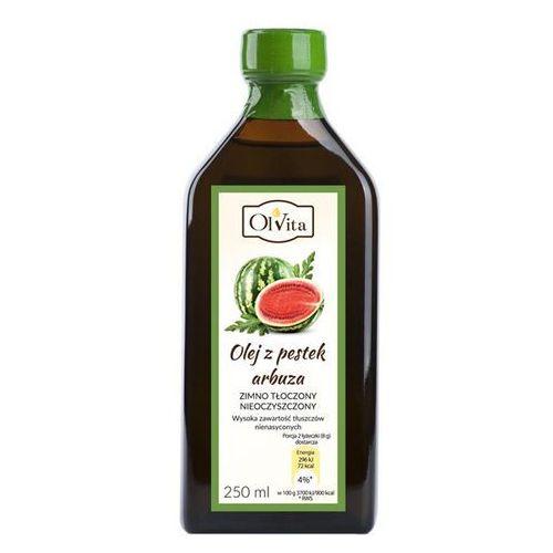 Olej z pestek arbuza zimnotłoczony nieoczyszczony 250ml marki Olvita. Najniższe ceny, najlepsze promocje w sklepach, opinie.