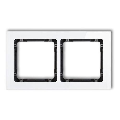 KARLIK DECO 0-11-DRS-2 Ramka uniwersalna 2-krotna - efekt szkła (ramka: biała; spód: grafitowy) biały (5903418068943)