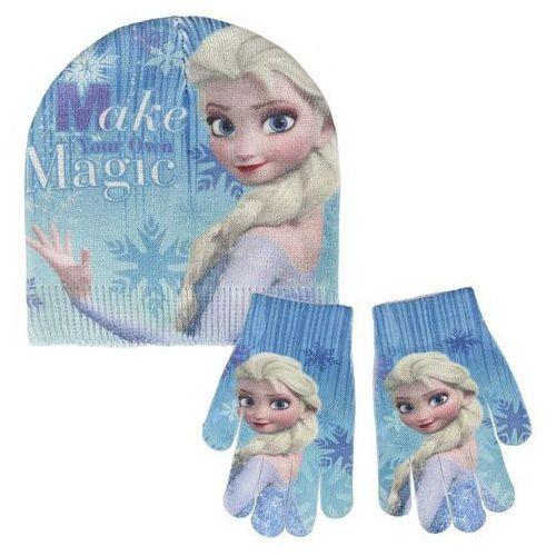 Komplet: czapka jesienna / zimowa i rękawiczki frozen - kraina lodu marki Cerda