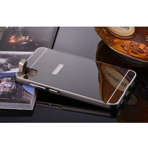 Mirror bumper metal case czarny | etui dla huawei honor 7i / shot x - czarny