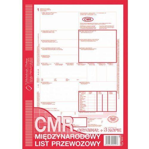 CMR list międzyn. przewoz. Michalczyk&Prokop 800-2 - A4 (oryginał+4kopie)