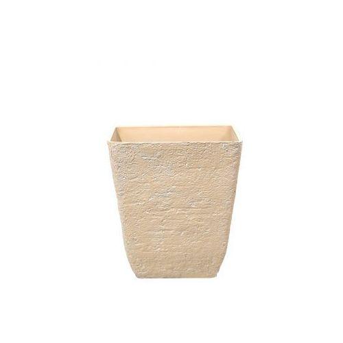 Doniczka beżowa kwadratowa 49 x 49 x 53 cm Girasole BLmeble