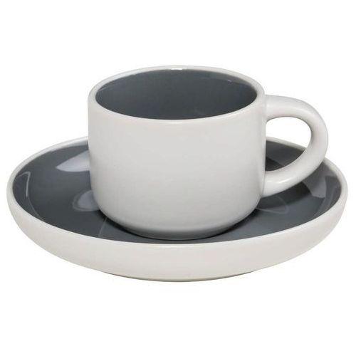 Maxwell & Williams - Tint - Filiżanka do espresso, biało-grafitowa - grafitowy