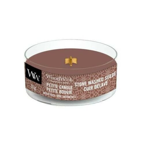 Woodwick świeca petite 31g vstone washed suede (5038581103112)