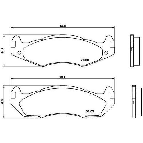 Brembo Zestaw klocków hamulcowych, hamulce tarczowe p 37 001